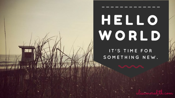 Hello world - it's time for something new at alisameredith.com