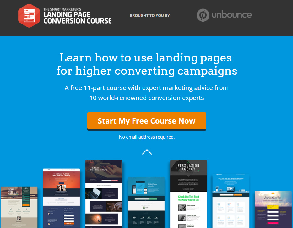LeadPages CTA and landing page