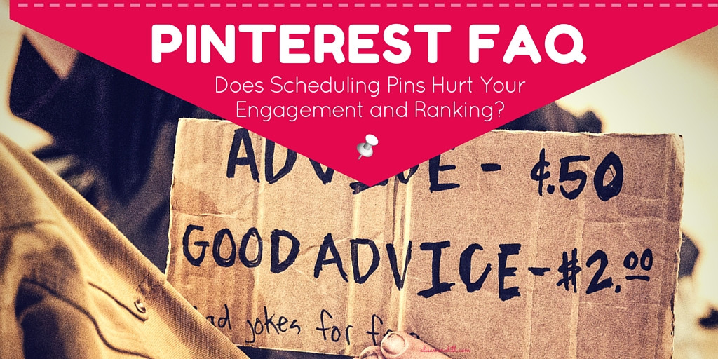 Pinterest FAQ -Does Scheduling Pins Hurt Your Engagement and Ranking? Read more: http://alisameredith.com/pinterest-faq-does-scheduling-pins-hurt-your-engagement-and-ranking via @alisammeredith