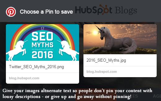 Always add image alt text for Pinterest!