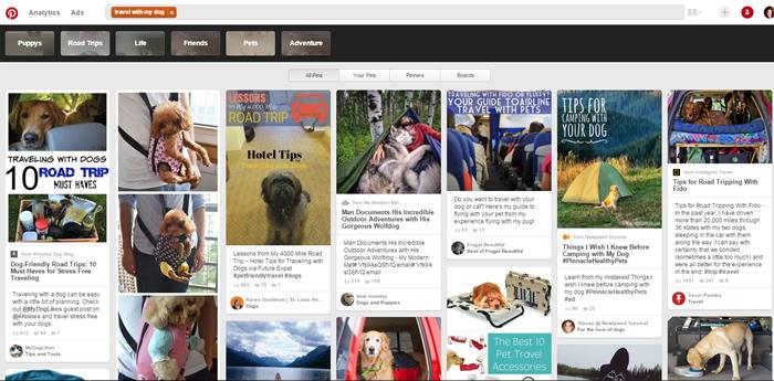 Pinterest search singular keyword