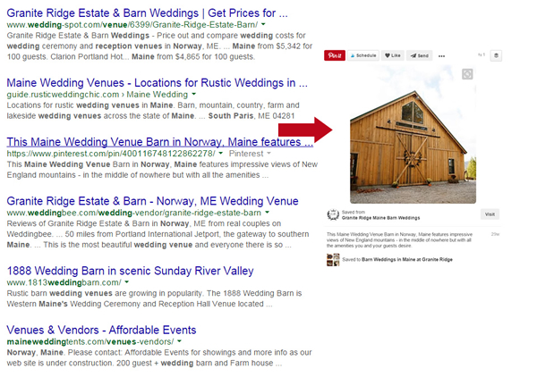 Pinterest profiles and boards can be indexed by Google.