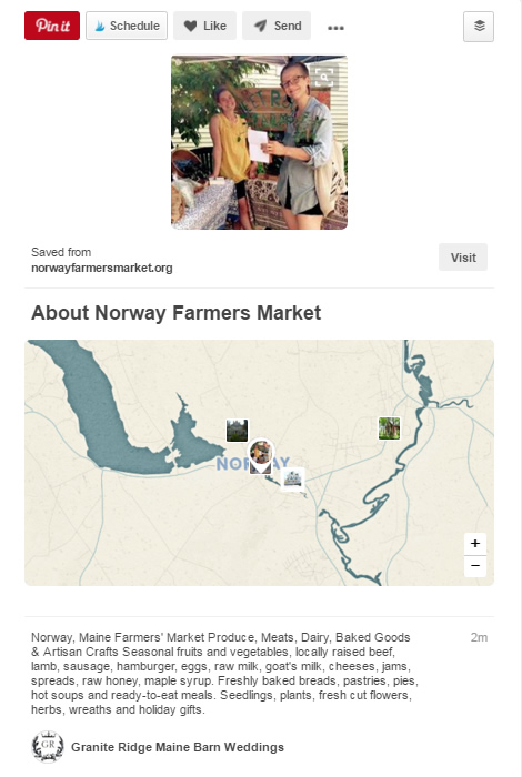 Place pins on Pinterest - another way to attract local customers.
