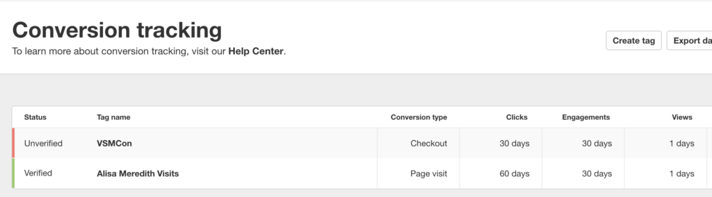 Pinterest pixel verification