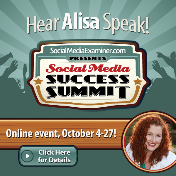 Alisa Meredith speaking at Social Media Examiner Success Summit