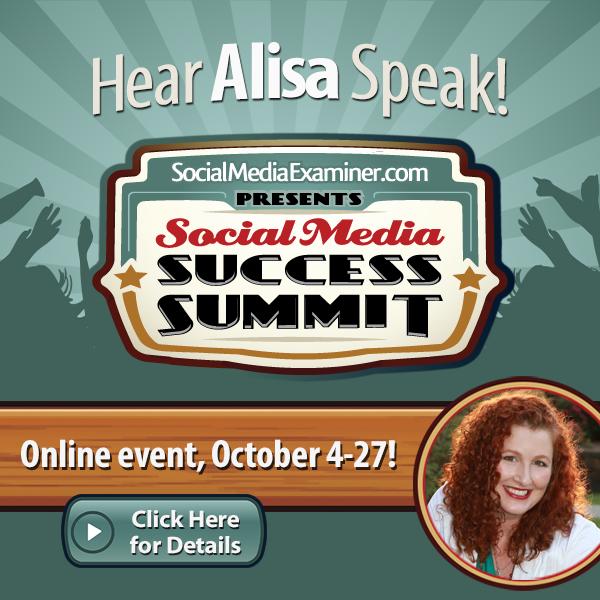 Alisa Meredith speaking at Social Media Examiner Success Summit
