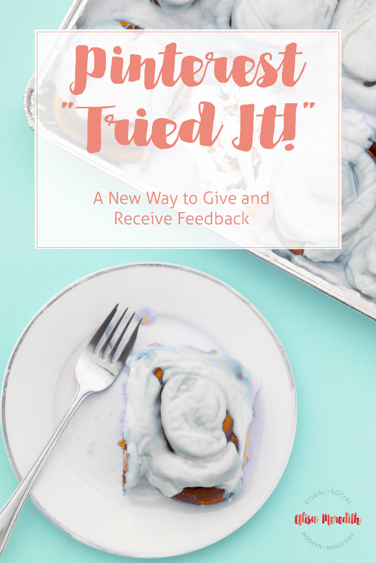 """Pinterest """"tried it"""" - a new way to keep track of things you have tried!"""