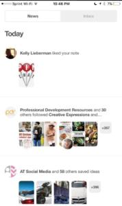 Pinterest tried it notification