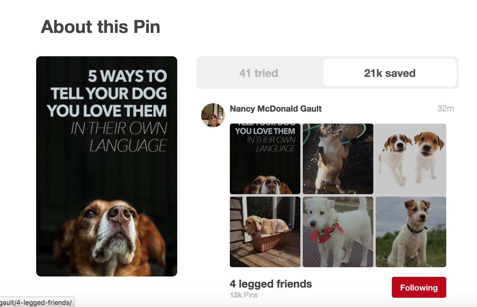 About this pin on Pinterest