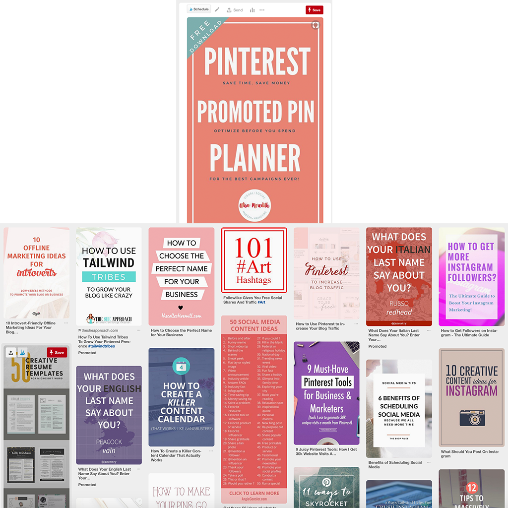 Don't use dynamic targeting on Pinterest