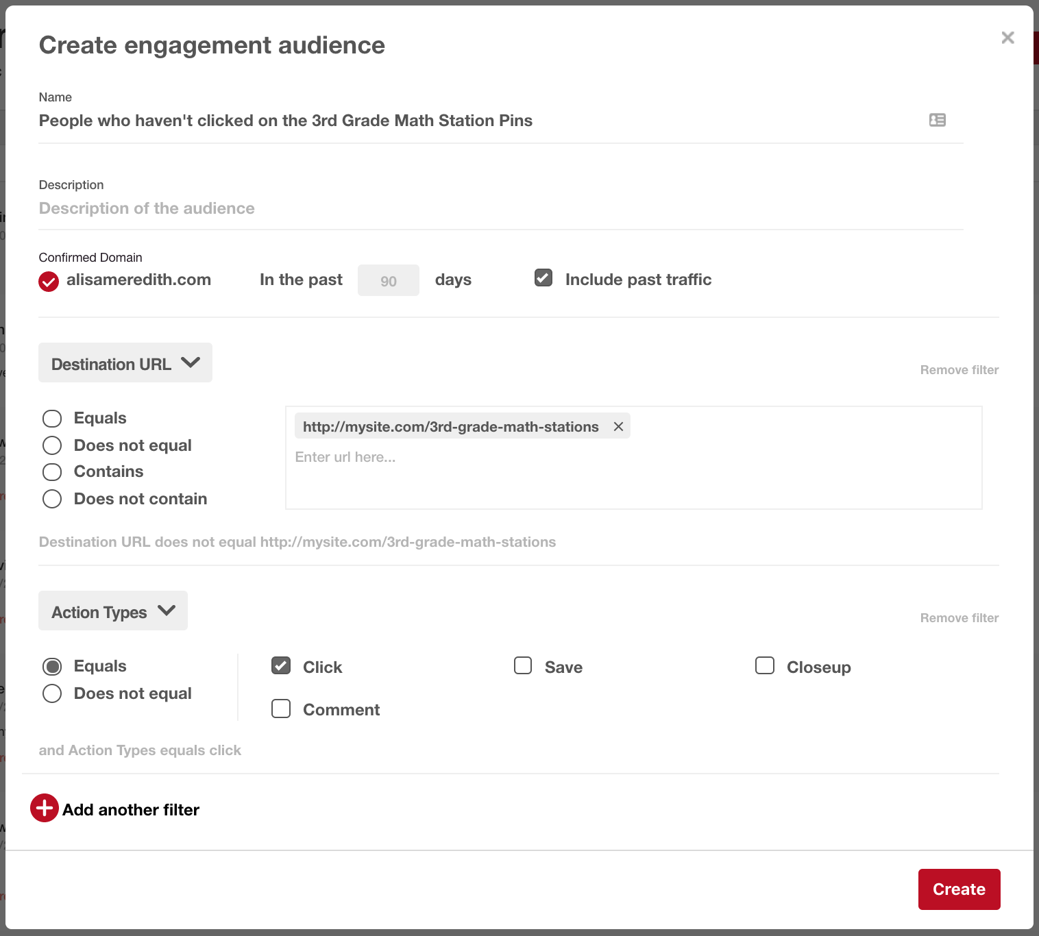 Create an engagement audience for Pinterest ads